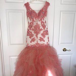 Mori Lee Mermaid Prom Dress, Size 2, Backless